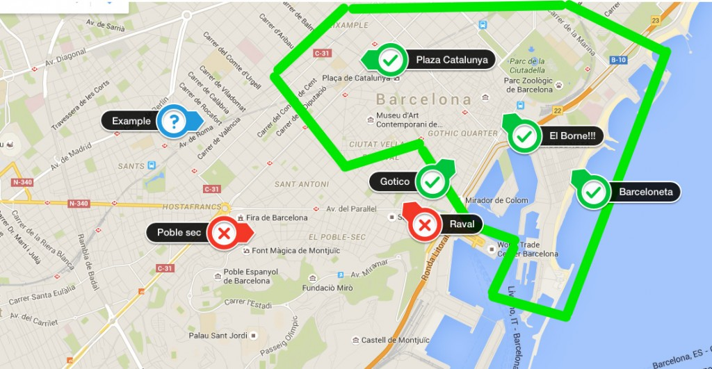 kaart-Barcelona