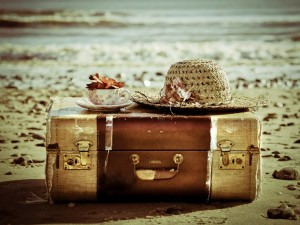 vintage suitcase travel